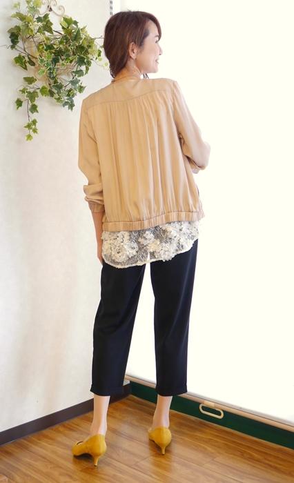 Anna Kerry アンナケリー 30代40代ファッション通販 花レースフレンチ袖コーディネート