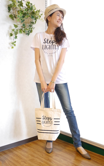 Anna Kerry アンナケリー トートバッグ付 半袖ロゴTシャツ