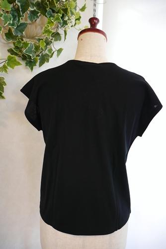 シンプル無地フレンチ袖Tシャツ インナー