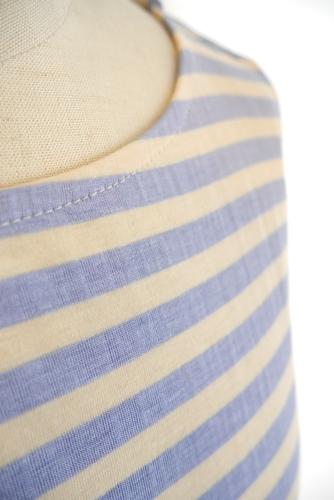 Anna Kerryアンナケリー 切替使いボーダー半袖Tシャツ