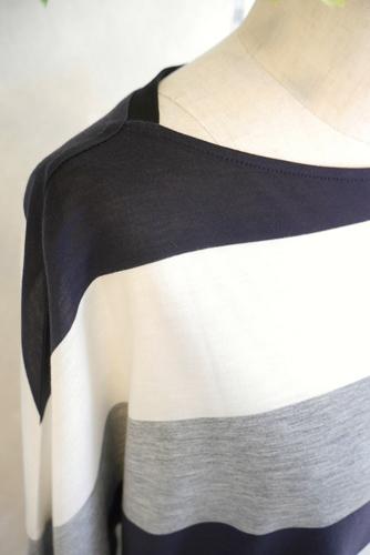 Cloche配色オーバーサイズTシャツ五分袖