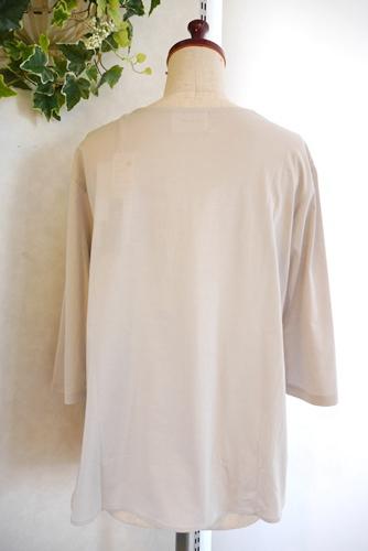 Clocheクロッシェ 日本製 無地七分袖Tシャツ