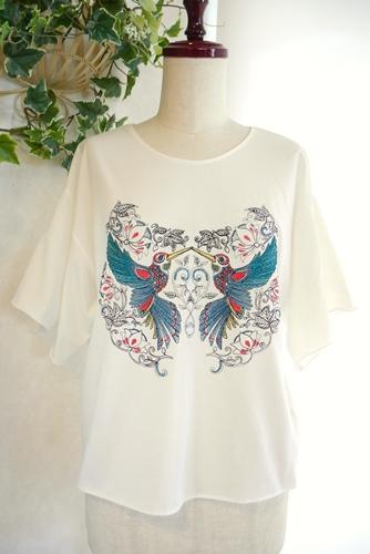 大人 刺繍Tシャツ le chanter(ルシャンテ)