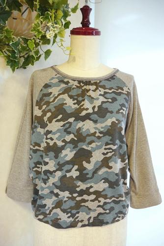 大人 迷彩 七分袖Tシャツ