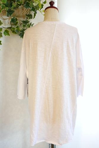 大人カジュアル オーバーサイズ 七分袖 白Tシャツ