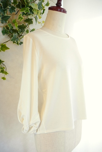 Relaxing.R リラクシングアール 袖口リボン七分袖Tシャツ コーディネート ガウチョパンツ 通販