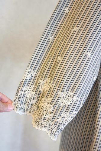フォークロア ボヘミアン レース刺繍 ワンピース風ロングカーディガン