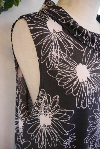 花柄シフォン チュニック
