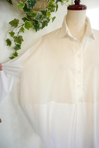 Renault 白スキッパーシャツチュニック