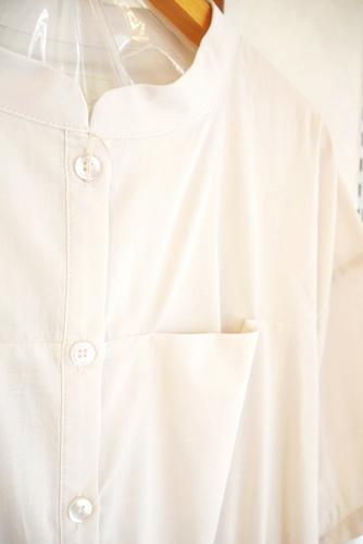 五分袖 ロング コットンシャツワンピース 通販