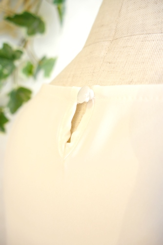 シフォン フレンチ袖ブラウス 通販