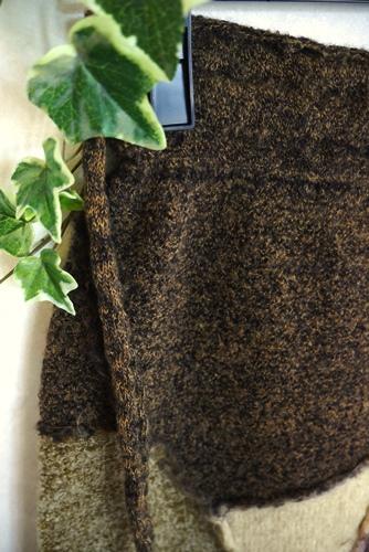 BUTAPANA ブタパナ 日本製ニットスカート パッチワーク