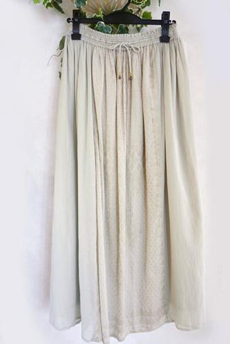 IOCUS(ヨクス) インド綿マキシスカート